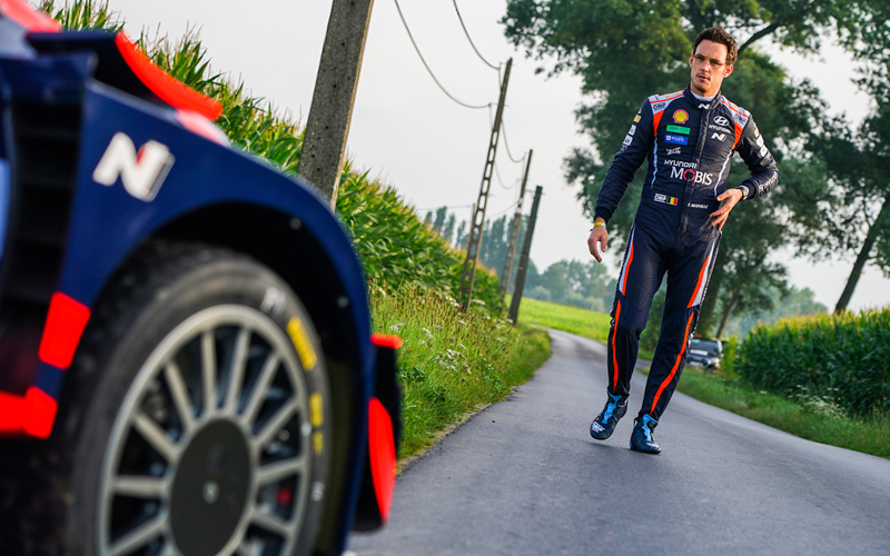 WRC YPRES RALLY BELGIUM HYUNDAI THIEERY NEUVILLE