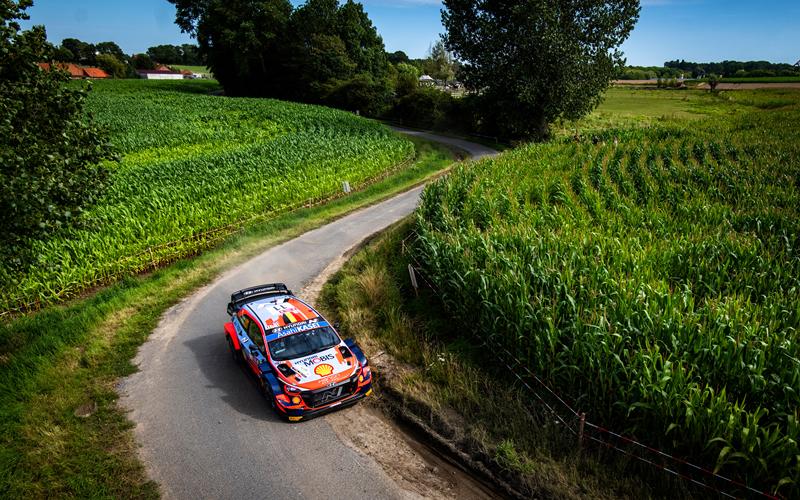 WRC YPRES RALLY BELGIUM HYUNDAI NEUVILLE
