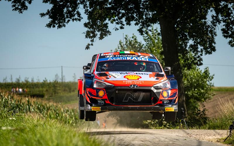 WRC YPRES RALLY BELGIUM HYUNDAI BREEN