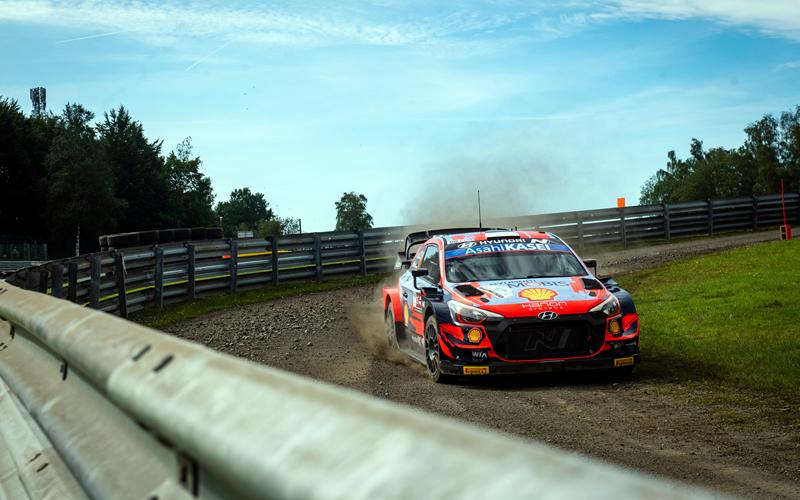 WRC YPRES RALLY BELGIUM HYUNDAI TANAK