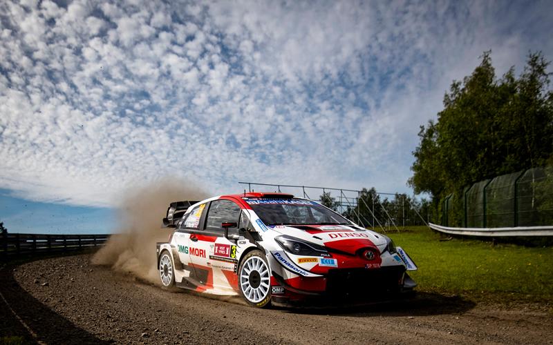 WRC YPRES RALLY BELGIUM TOYOTA GAZOO EVANS