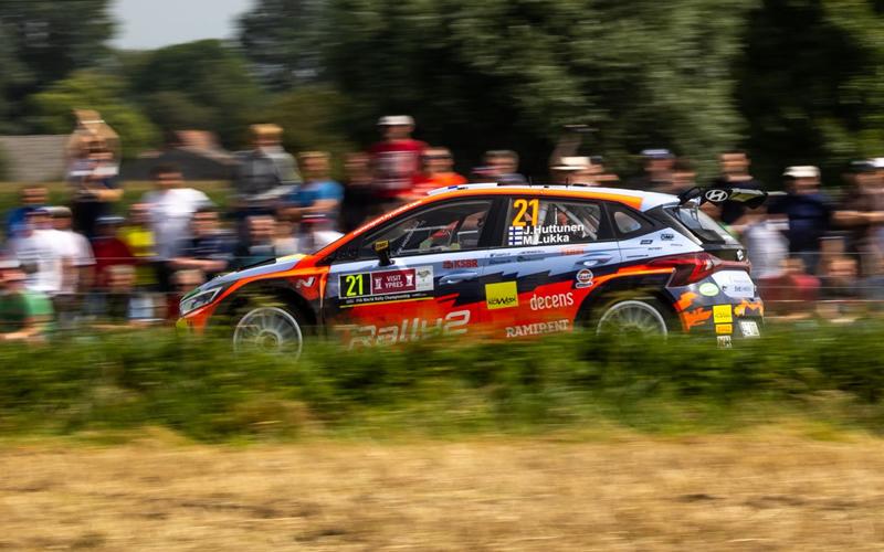 WRC YPRES RALLY BELGIUM HYUNDAI HUTTUNEN